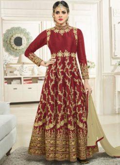 Miraamall Silk Designer Anarkali Suit