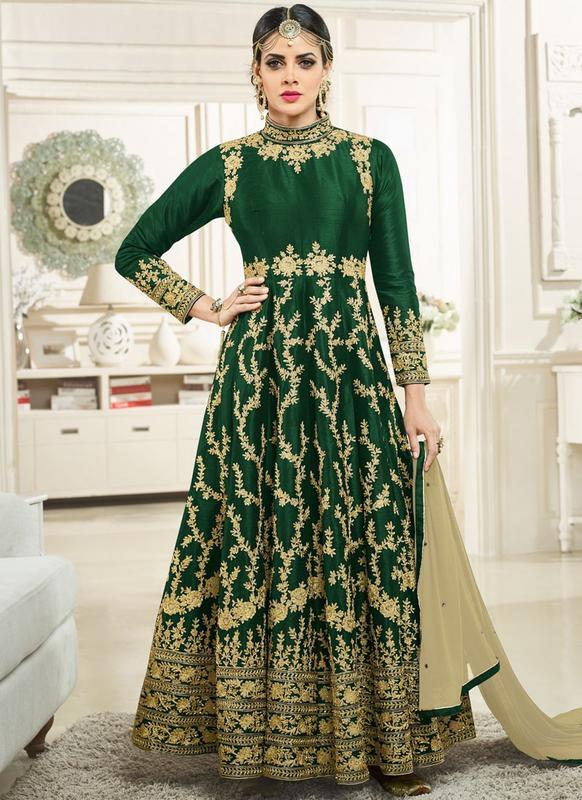 e6780ccc7c Miraamall Silk Designer Anarkali Suit -- miraamall - USA UK Canada