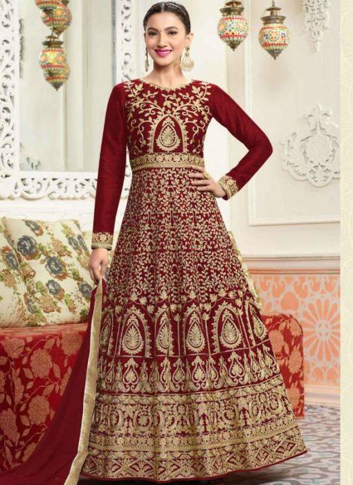 Miraamall Silk Anarkali Salwar Kameez