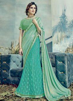Miraamall Designer Net Lehenga Style Saree