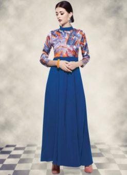 Miraamall Georgette Party Wear Gown