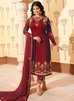 Miraamall Georgette Churidar Suit