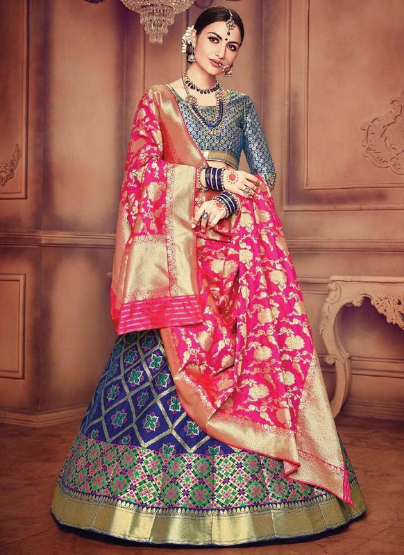 Latest Banarasi Silk Designer Blue Lehenga Choli Miraamall Usa Uk Canada,Simple False Ceiling Designs For Living Room In India