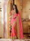 Attractive Pink Designer Silk Party Wear Saree
