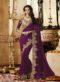 Wonderful Purple Silk Designer Embroidered Work Party Wear Saree