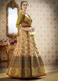Beautiful Designer Green Party Wear  Lehenga Choli