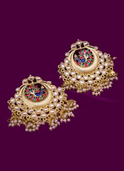 Amazing Golden And Multi Color Traditional Earrings