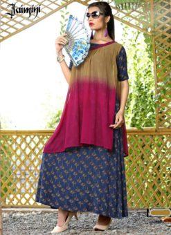 Beautiful Pink Cotton Printed Designer Kurti