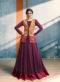 Violet Designer Indian Evening Gown