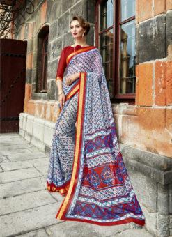 Fabulous Designer Triveni Multicolor Saree