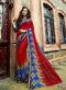 Blacefull Designer Triveni Multicolor Saree
