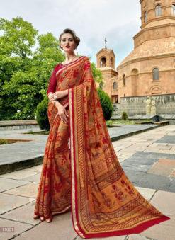 Beautiful Designer Triveni Multicolor Saree