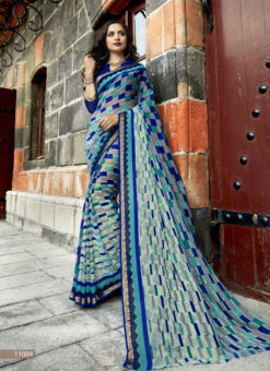 Geniva Designer Triveni Multicolor Saree