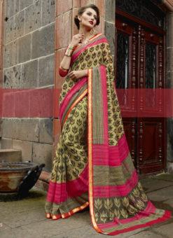 Paris Designer Triveni Multicolor Saree