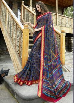 Pinkworld Designer Triveni Multicolor Saree