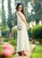 Cream Spenderic Georgette Printed Designer Kurti