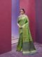 Latest Indian Women's  Green Designer Patola Silk Saree
