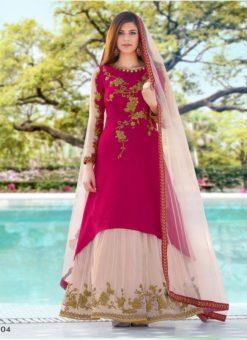 Miraamall Gulzaar 2100 Series Designer Pink Salwar Kameez
