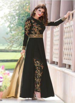 Miraamall Gulzaar 2100 Series Designer Black Salwar Kameez