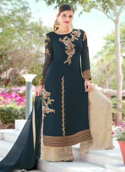Miraamall Gulzaar 2100 Series Designer Green Salwar Kameez