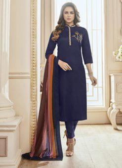 Kavya Designer Blue Churidar Salwar Suit