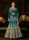Miraamall Shahsi Sky Blue Silk Anarkali Salwat kameez