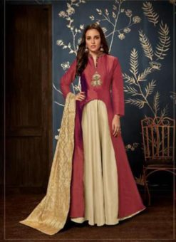 Gowns - Indian Evening Gowns For Party - Maroon Gowns
