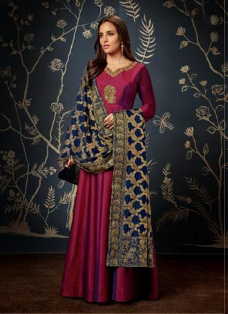 dfb283f10e5 Gowns – Indian Evening Gowns For Party Maroon Color Gowns