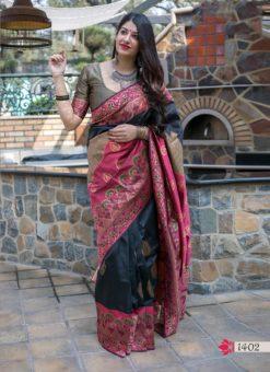 Hitansh Multi Color Designer Banarasi Silk Saree