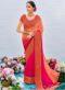Peach Chiffon Patch Border Casual Wear Saree