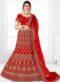 Red Velvet Embroidered Work Designer Wedding Lehenga Choli