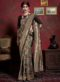 Black Silk Zari Weaving Traditional Saree