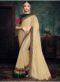 Beige Silk Patch Border Designer Saree