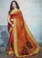 Multicolor Linen Cotton Printed Saree