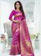 Magenta Banarasi Silk Zari Weaving Party Wear Saree