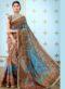 Multicolor Banarasi Silk Printed Designer Saree