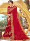 Red Georgette Resham Work Party Wear Saree