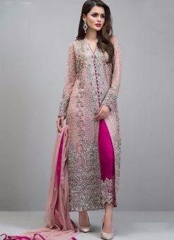 Pink Faux Georgette Party Wear Pakistani Suits