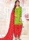Green Cotton Party Wear Punjabi Salwar Suit