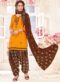 Yellow Cotton Party Wear Punjabi Salwar Suit