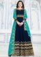 Blue Georgette Party Wear Designer Anarkali Suit