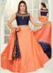 Peach Brocade Zari Print Designer Lehenga Choli