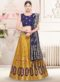 Yellow Banarasi Silk Zari Weaving Wedding Lehenga Choli