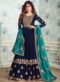 Navy Blue Georgette Embroidered Work Designer Salwar Kameez