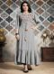Grey Cotton Designer Party Wear Kurti