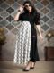 Black And White Cotton Designer Party Wear Kurti