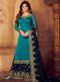 Sea Green Georgette Embroidered Work Palazzo Suit