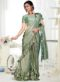 Green Lycra Fancy Designer Readymade Saree