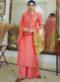 Peach Rayon Cotton Designer Palazzo Salwar Suit