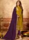 Brown Cotton Casual Wear Churidar Salwar Suit